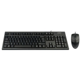 Kit Tastatura+Mouse A4Tech KR-8520D Tastatura KR-85 PS/2 Mouse OP-620D 4 butoane 800dpi PS/2 Black
