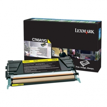 Cartus Toner Lexmark C746A1YG Yellow Return Program 7000 Pagini for C746, C748