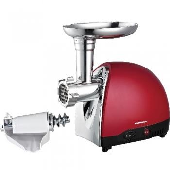 Masina de tocat Heinner MG1500TA-red 1500W Accesoriu de rosii Accesoriu pentru carnati Trei site de taiere Cutit din inox