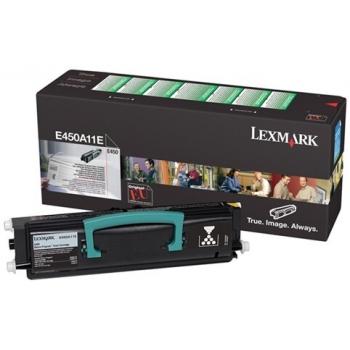 Cartus Toner Lexmark E450A11E Black Return Program 6000 pagini for E450DN