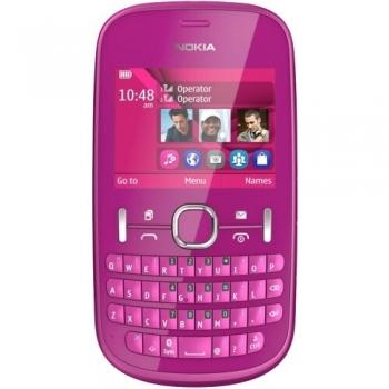 Telefon Mobil Nokia Asha 200 Pink Dual SIM tastatura qwerty Camera Foto 2MPx NOK200P