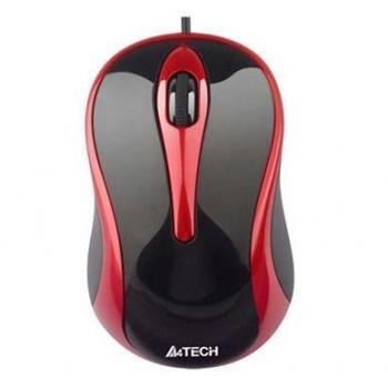 Mouse A4Tech N-350 V-Track 3 Butoane USB Black/Red N-350-2