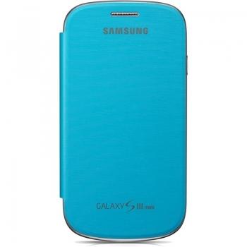 Husa Samsung EFC-1M7FLEGSTD pentru i8190 Galaxy S III Mini Flip Cover Light Blue