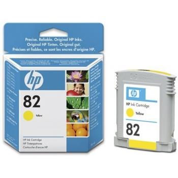 Cartus Cerneala HP Nr. 82 Yellow 28 ml for Designjet 10PS, Designjet 20PS, Designjet 50PS, Designjet 500, Designjet 800, Designjet CC800, Designjet 510 A0, Designjet 510 A1, Designjet 510PS A0, Designjet 510PS A1 CH568A