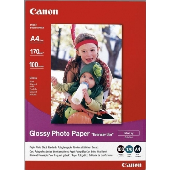Hartie Foto Canon GP-501 Glossy Dimensiune: A4 Numar coli: 100 BS0775B001AA