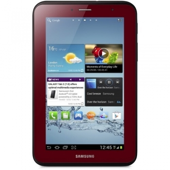 "Tableta Samsung Galaxy Tab2 P3100 Garnet Red 3G ARM Cortex A9 Dual Core 1.0GHz 7"" 1024x600 1GB RAM memorie interna 8GB Android 4.0 SAMP31008GBRED"