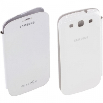 Husa Samsung Flip Cover pentru i9300 Galaxy S III white EFC-1G6FWECSTD