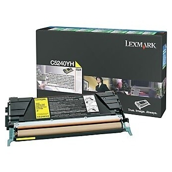 Cartus Toner Lexmark C5240YH Yellow 5000 pagini for C524, C524DN, C524DTN, C524N, C532DN, C532N