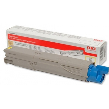 Cartus Toner Oki 43459329 Yellow High Capacity 2500 Pagini for C3300N, C3400N, C3450N