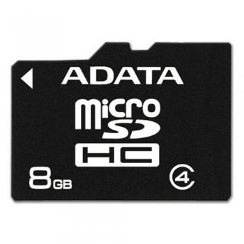 Card Memorie microSDHC ADATA 8GB Clasa 4 AUSDH8GCL4-R
