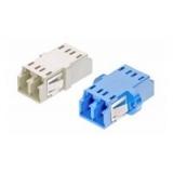 Coupler LC Duplex MM [OM3] XG Plastic/Metal, Clip/Screw, Aqua (moq=10pcs) AMP_1-6457567-6