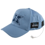 Sapca sport cu casti handsfree Bluetooth Serioux albastru deschis