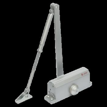 Amortizor hidraulic cu brat Silin SA-6033ADS , cu blocare , Pentru usi cu greutatea de 40-65 kg; latime usa 950mm Viteza de inchidere reglabila Montare stanga sau dreapta