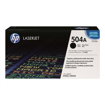 Cartus Toner HP Nr. 504A Black 5.000 Pagini for Color LaserJet CM3530 MFP, CM3530FS MFP, CP3525DN, CP3525N, CP3525X CE250A