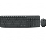 Kit Wireless Tastatura+Mouse Logitech Combo MK235 Mouse Optic 3 butoane Tastatura Multimedia 15 functii FN 920-007931