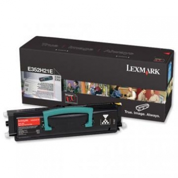 Cartus Toner Lexmark E352H21E Black 9000 pagini for E350D, E352DN