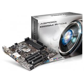 Placa de baza ASRock B85M Pro4 Socket 1150 Intel B85 4x DDR3 VGA DVI HDMI mATX