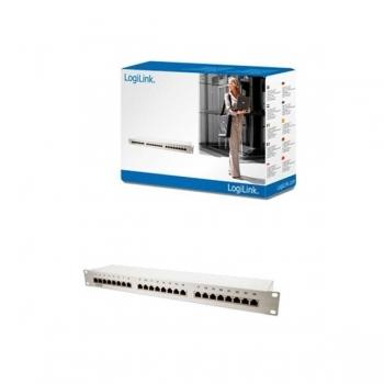 Patch panel FTP LogiLink cat. 5e 24 porturi gri NP0036