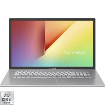 "Laptop ASUS VivoBook 17 X712FB-AU527 cu procesor Intel Core i7-10510U pana la 4.90 GHz 17.3"" Full HD 8GB 1TB HDD + 256GB SSD NVIDIA® GeForce MX110 2GB Free DOS Transparent Silver"
