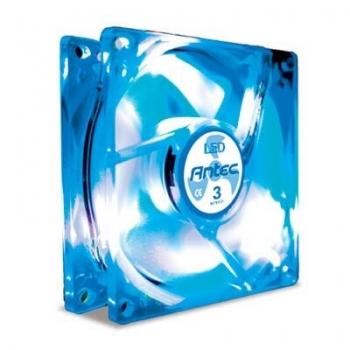 Cooler carcasa Antec TriCool 80mm 2600rpm Blue LED cu controler de turatie