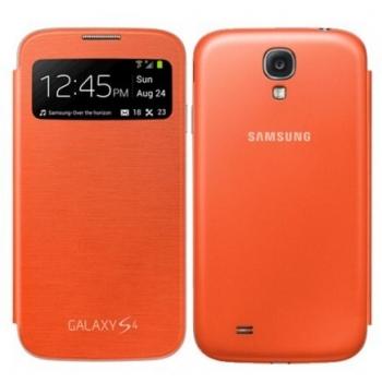 Husa Samsung S-View pentru Galaxy S4 i9500, I9505 Rigel orange EF-CI950BOEGWW