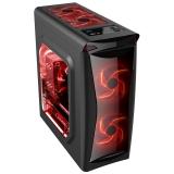 Carcasa Middle Tower Floston Red Fire Ventilatoare 2x 120mm 2x USB 2.0 1x USB 3.0 2x jack 3.5mm