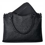 "Geanta Laptop Asus Leather Woven Carry Bag 12"" Black 90-XB2000BA00010-"