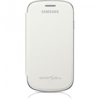 Husa Samsung Flip Cover pentru i8190 Galaxy S III Mini White EFC-1M7FWEGSTD