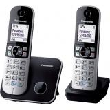 TG6812FXB, telefon DECT, 2 receptoare, ecran LCD de 1,8 inch cu lumina de fundal alba, agenda 120 numere, caller ID 50 numere, sonerie polifonica receptor, functie de reducere a zgomotului de fundal, posibilitate de partajare a agendei, posibilitate de bl
