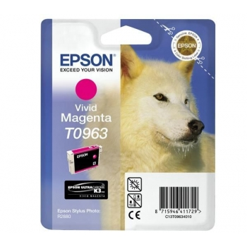 Cartus Cerneala Epson T0963 Vivid Magenta 11.4ml for Stylus Photo R2880 C13T09634010