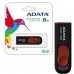 Memorie USB ADATA Classic C008 8GB USB 2.0 Negru-rosu AC008-8G-RKD