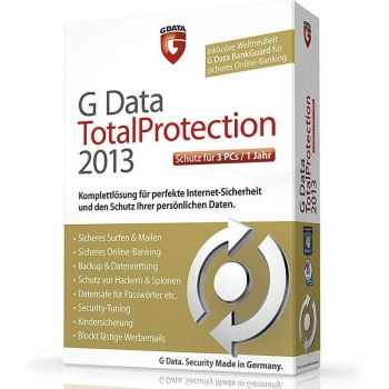 G Data Total Protection 2014 ESD Electronic 3 Calculatoare 1 An