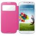 Husa Samsung S-View pentru Galaxy S4 i9500, I9505 Rigel pink EF-CI950BPEGWW