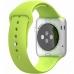 Smartwatch Apple Watch sport 42 mm carcasa din aluminiu argintiu curea sport verde