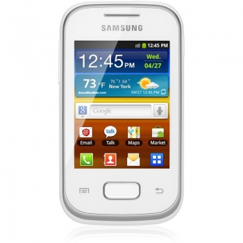 Telefon Mobil Samsung Galaxy Pocket S5301 White Cortex A9 850MHz 4GB Camera Foto 2MPx Android v4.0 SAMS5301WHT