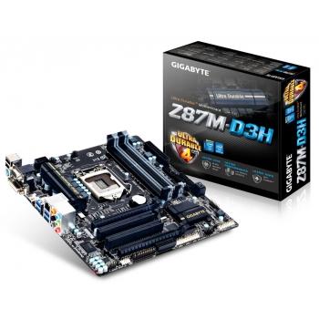 Placa de baza Gigabyte Z87M-D3H Socket 1150 Chipset Intel Z87 4x DIMM DDR3 2x PCI-E x16 3.0 2x PCI HDMI DVI VGA 6x USB 3.0 MicroATX