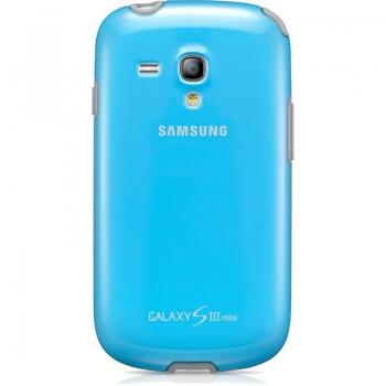 Husa Samsung EFC-1M7BLEGSTD pentru i8190 Galaxy S III Mini Light Blue