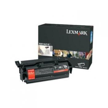 Cartus Toner Lexmark X651A21E Black 7000 pagini for X651DE, X652DE, X654DE, X656DTE, X658DFE, X658DME, X658DTFE, X658DTME