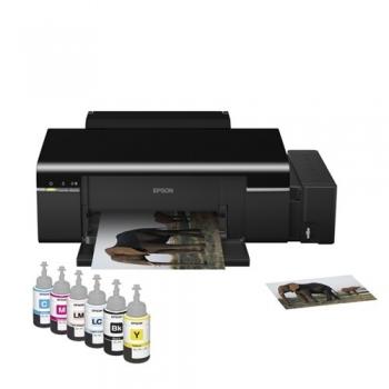 Imprimanta foto Epson L800 CIS A4 38ppm mono 37ppm color USB Printare CD / DVD C11CB57302
