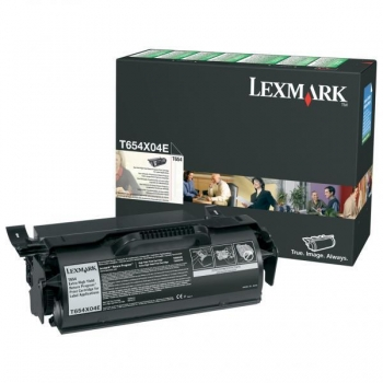 Cartus Toner Lexmark T654X04E black capacitate 36000 pagini for T654, T654DN, T654DTN, T654N