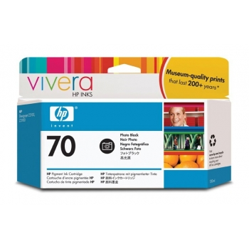 Cartus Cerneala HP Nr. 70 Photo Black Vivera Ink 130 ml for HP Designjet Z2100 24', Designjet Z2100 44' Q6677A, Designjet Z2100 44' Q6677C, Designjet Z3200 24' C9449A