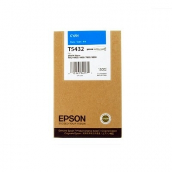 Cartus Cerneala Epson T5432 Cyan 110ml for Stylus Pro 4000, 7600, 9600 C13T543200