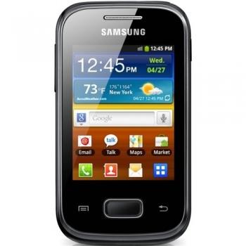 "Telefon Mobil Samsung Galaxy Pocket S5301 Black 2.8"" 240 x 320 Cortex A9 850MHz memorie interna 4GB Camera Foto 2MPx Android v4.0 SAMS5301BLK"