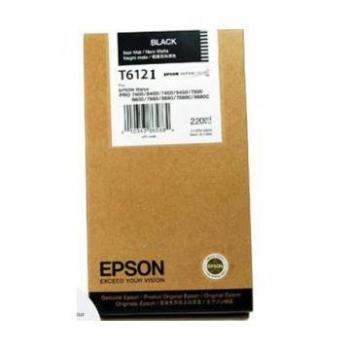 Cartus Cerneala Epson T6121 Photo Black 220ml for Stylus Pro 7400, Stylus Pro 7450, Stylus Pro 9400, Stylus Pro 9450 C13T612100