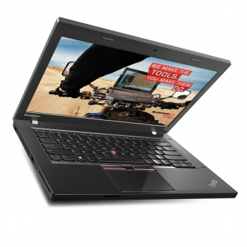 "Laptop Lenovo ThinkPad L450, 14.0"" FHD (1920x1080, IPS, antireflexie, LED-Backlight, Intel Core i7-5500U (2.4GHz, up to 3.00GHz, 1600MHz, 4MB), video dedicat ATI M200 R5 2GB, RAM 8GB DDR3 1600MHz (2x4GB), SSD 256GB, no ODD, Card Reader 4-1, boxe ster"