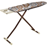 Wide, monolithic steam permeable iron table with size 42x125cm, Round tube legs Ø38 with thickness 0,90 mm