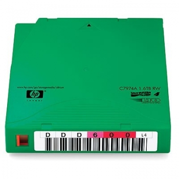 Caseta Date LTO-4 HP Ultrium 1.6TB Re-Writable Label Barcode C7974AN
