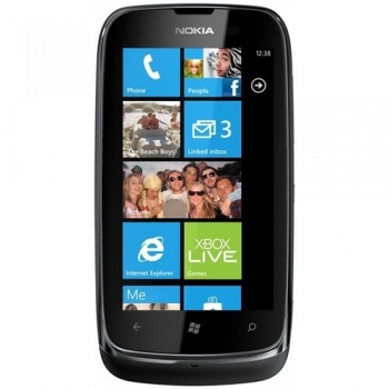 "Telefon Mobil Nokia Lumia 610 Black 3G 3.7"" 480 x 800 TFT Cortex A5 800Mhz memorie interna 8GB Windows Phone 7.5 Mango NOK610BLK"