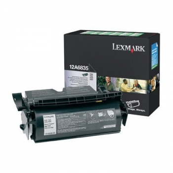 Cartus Toner Lexmark 12A6835 Black Return Program 20000 pagini for Optra T520, T520DN, T520N, T522, T522DN, T522N