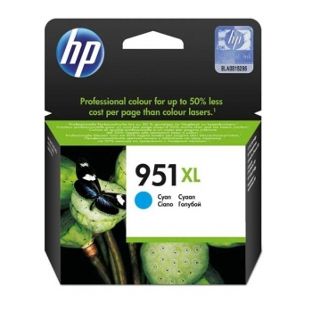 Cartus Cerneala HP Nr. 951XL Cyan 1500 Pagini for Officejet Pro 8100 N811A, Officejet Pro 8600 N911A CN046AE